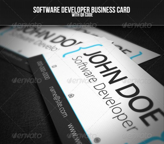 The 25 best business cards images on pinterest business cards software developer business card reheart Image collections
