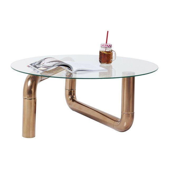 Table basse Pipeline cuivre Kare Design KARE DESIGN