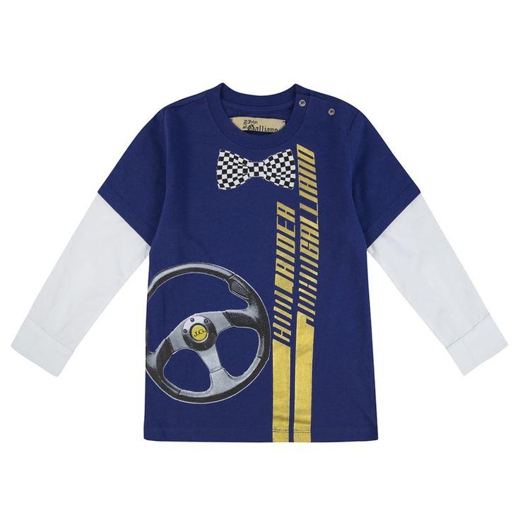 John Galliano Baby Boys Blue Long Sleeved T-Shirt