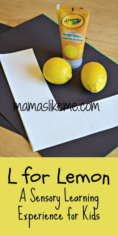 Mamas Like Me: L for Lemon - A Yellow Sensory Experience