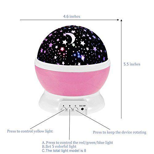 Ecandy-360-Grad-drehbaren-3-Modus-Projektor-Licht-Romantische-Kosmos-Stern-Himmel-Mond-Projektionslampe-Schlafzimmer-Nachtlicht-fr-Kinder-Baby-Weihnachtsgeschenke-Liebhaber-USB-batteriebetrieben