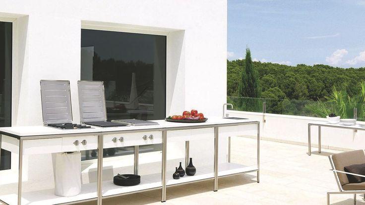 Cuisine d'extérieur inox, mobile, design, barbecue, plancha... - Côté Maison