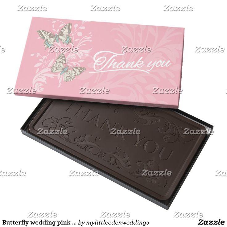Erfly Wedding Pink Thank You Chocolate