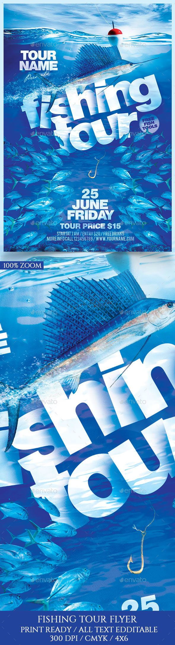 ironing service flyer template - fishing tour flyer template flyers and holidays and events