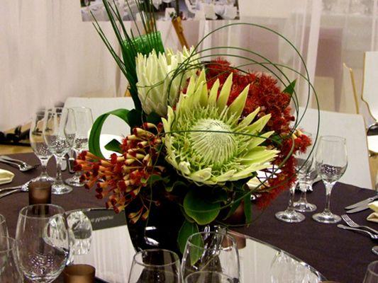Floral Design - Centerpiece Australian Natives & Waratah