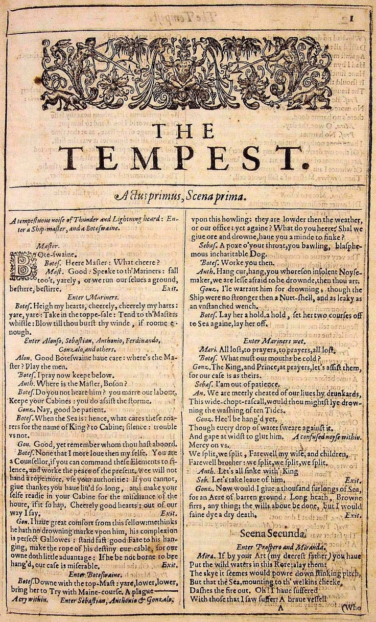 best images about the tempest litwits reg william title page image of the tempest from the first folio edition of shakespeare s collected plays c get unique hands on activity ideas for this play and great