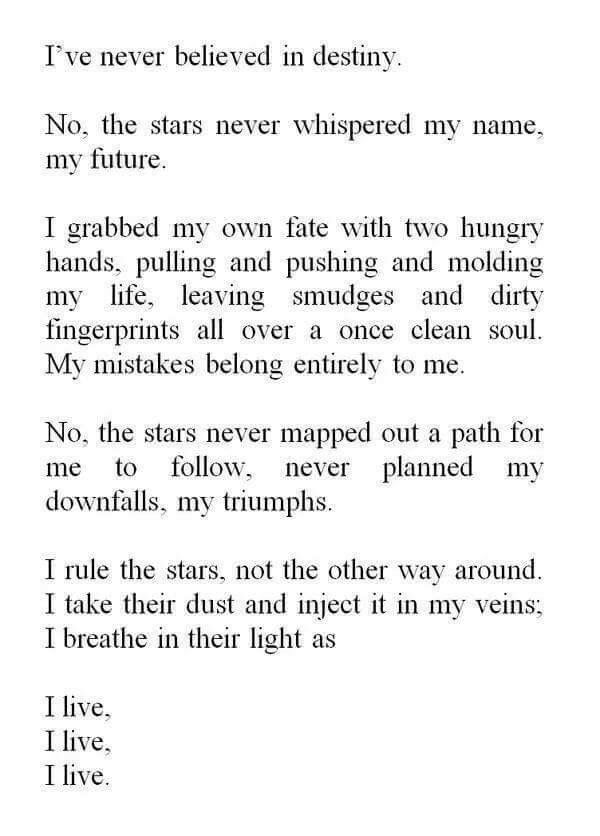 poems about fate and destiny