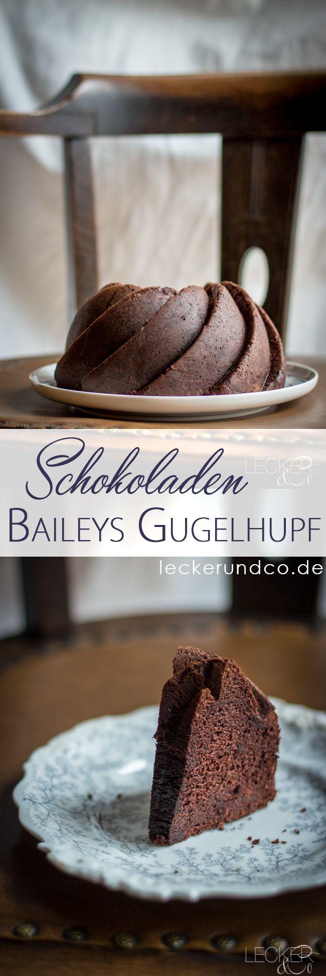 Schokoladen Baileys Gugelhupf | Saftigster Schokoladenkuchen