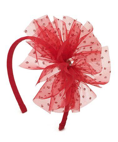 Love this Red Shimmer Tulle Headband on #zulily! #zulilyfinds