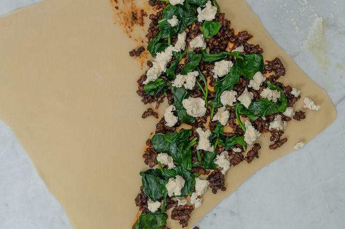 Gozleme recipe - lamb, spinach, ricotta filling | Tonic & Soul | http://www.tonicandsoul.com/gozleme/