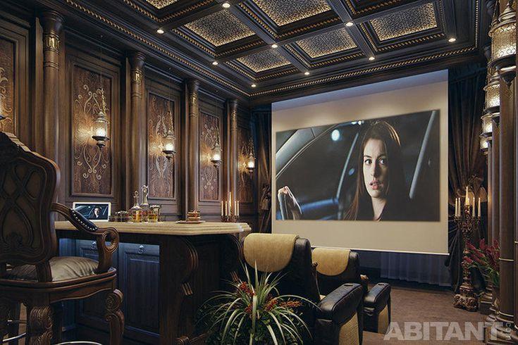 villa-klassa-lyuks-v-katare. Домашний кинотеатр с большим экраном
