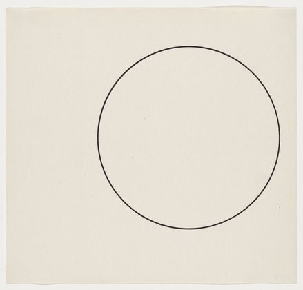 Simple, elegant, inspiration. Ellsworth Kelly, 'Circle Line, 1951. #modernart #minimalism #inspiration
