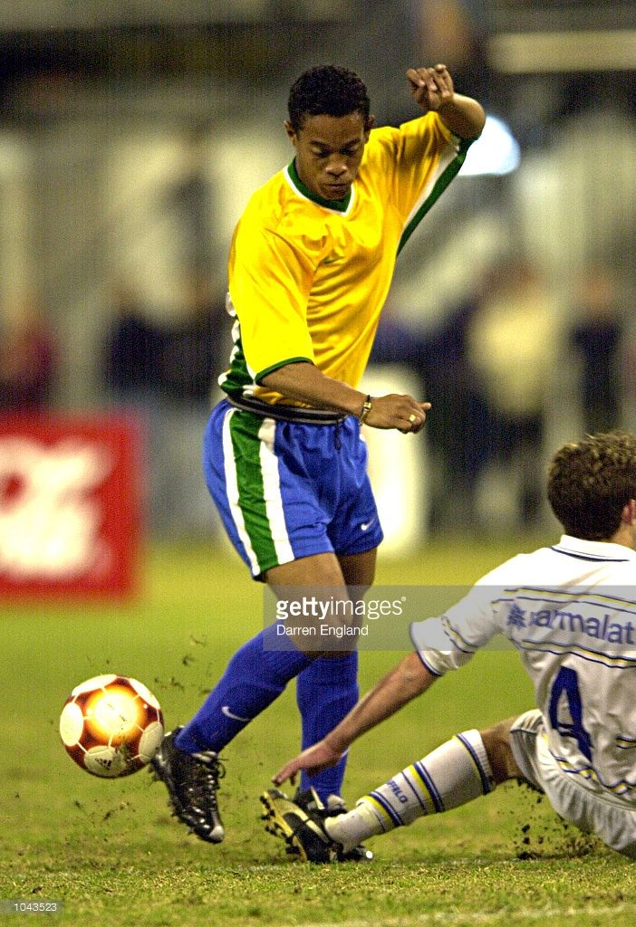 Ronaldinho Gaucho of Brazil in action against Brisbane during the Pre-Olympics…