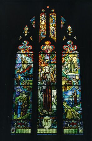 Stained glass in St Patrick's Cathedral Ireland