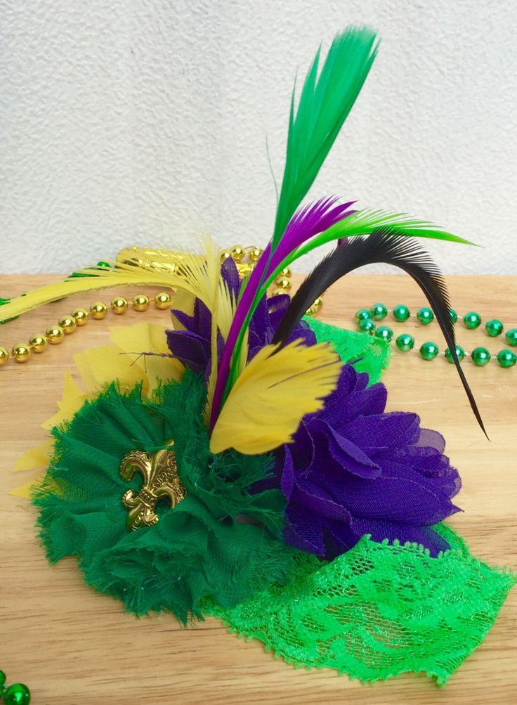 Purple , Green  and Gold Mardi  Gras  Headband , Baby, Baby Girl , Toddler and Adult  Headband , Mardi  Gras  Parade  Headband , Photo  Prop by SundayChildBoutique on Etsy https://www.etsy.com/listing/463881826/purple-green-and-gold-mardi-gras