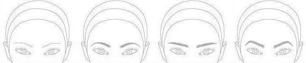 See how different eyebrow shapes affect phoenix eyes. A curve makes them softer, and straight makes you look like you're about to scratch, but in a sexy way...