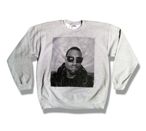 Kanye West Sweatshirt - Limited Print - All Sizes s, m, l, xl, xxl, xxxl - USA orders will arrive before December 25th. $20.00, via Etsy.