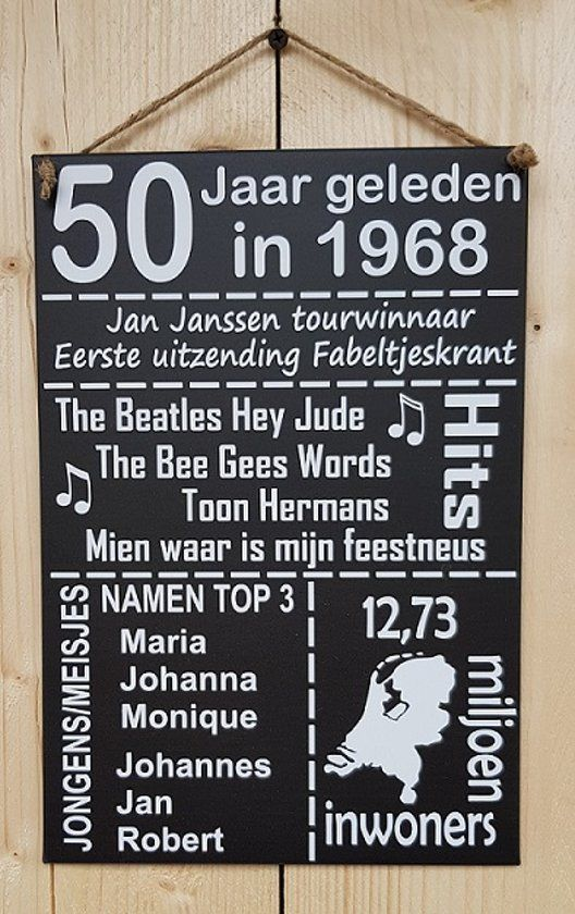 the beatles 50 jaar 50 jaar geleden in 1968 antraciet 20x30 cm | Presents | Pinterest  the beatles 50 jaar