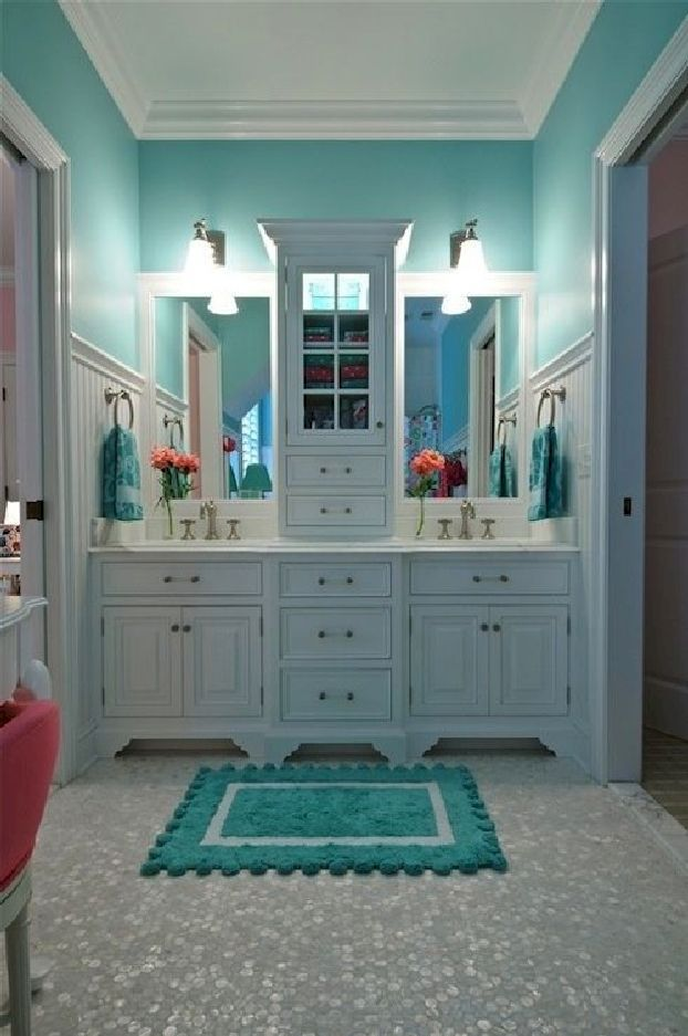 Best 25 girl bathroom decor ideas on pinterest girl bathroom ideas small bathroom decorating - Bathroom decorating ideas blue walls ...
