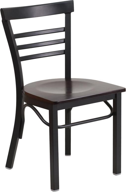 Black Restaurant Chair WL 04309 FF