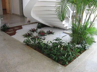 Jardin debajo de la escalera