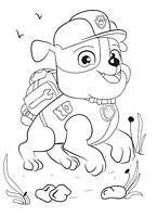 Rubble Paw Patrol coloring pages - kolorowanka Psi Patrol, dla dzieci