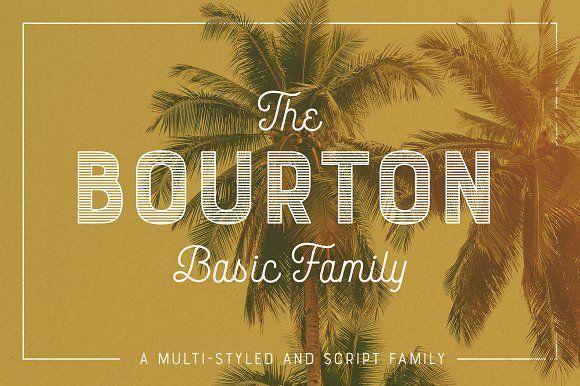 Bourton Basic Pack • 22 Fonts by Kimmy Design on @creativemarket