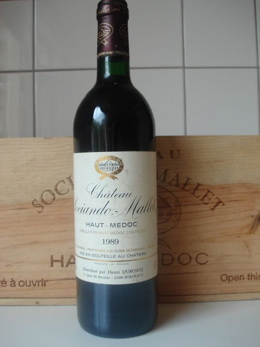 Currently at our Catawiki auctions:  1989 Chateau Sociando-Mallet, 12 bottles in OWC Red wine Haut-Medoc, France