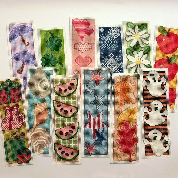 A Year of Bookmarks Cross Stitch Patterns by StitchNotions on Etsy, $7.00