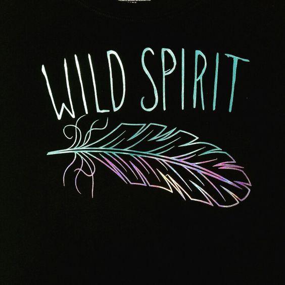 wild spirit shirt, holographic shirt,Feather Shirt, Gypsy Shirt, boho shirt, bohemian shirt, statement shirts, inspirational shirt by Jkdezign on Etsy