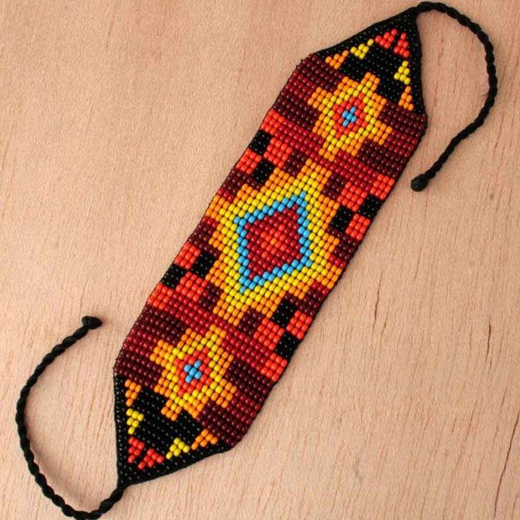 Incan Sun Seed Bead Bracelet | handmade | glass | ladies | fair trade