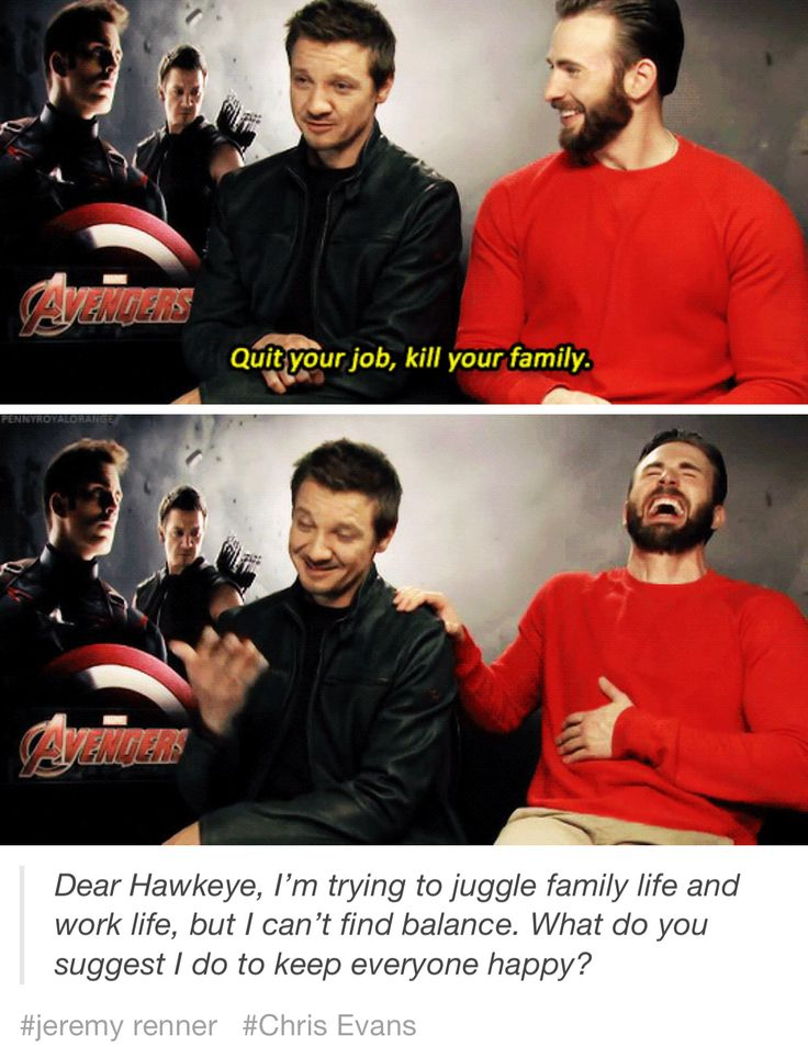 Remind me to never ask Jeremy Renner for advice... unless it's about makeup.