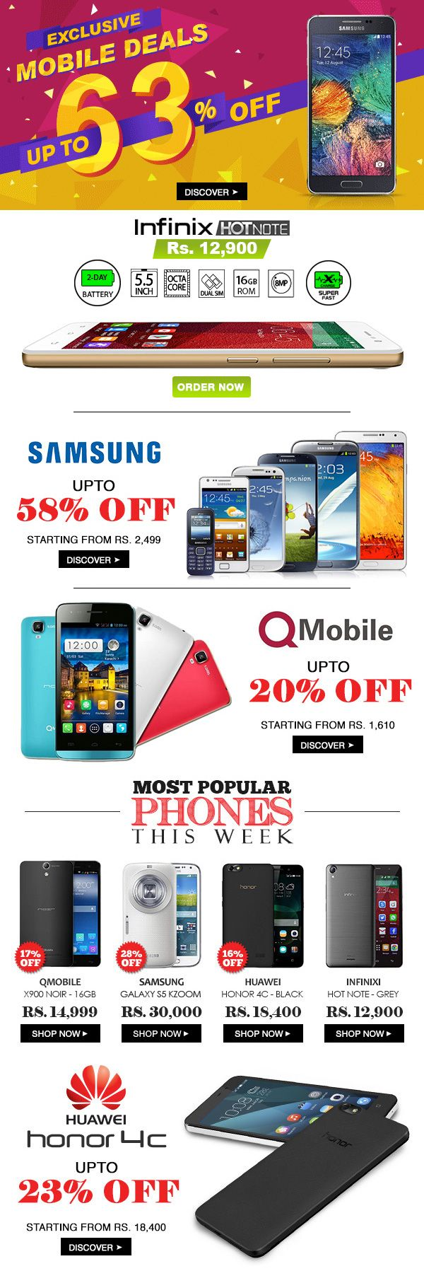 GM - NL2015JUL04 - Saturday - Mobile Deals, Infinix, Samsung, Qmobile, Huawei, Most Popular Phones