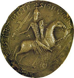 Sceau de Robert Ier, comte de Dreux, 1184. (Moulage: Archives nationales, service des sceaux, D 720)