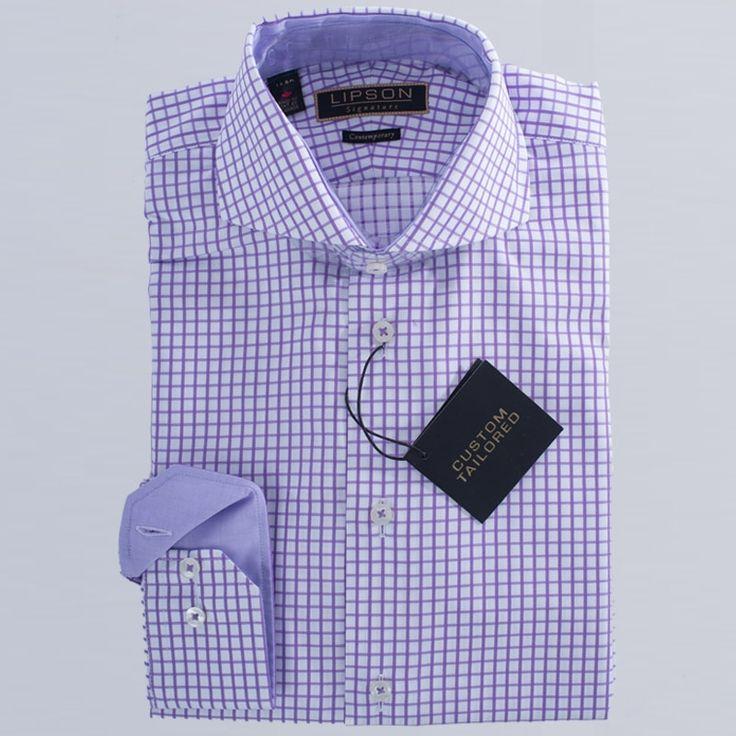 Lipson check print cotton shirt SIGNATURE CONTEMPORARY  SLIM FIT