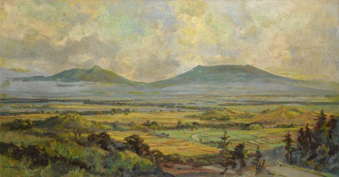 Ernest Dezentjé (1885-1972), `Indonesisch landschap`