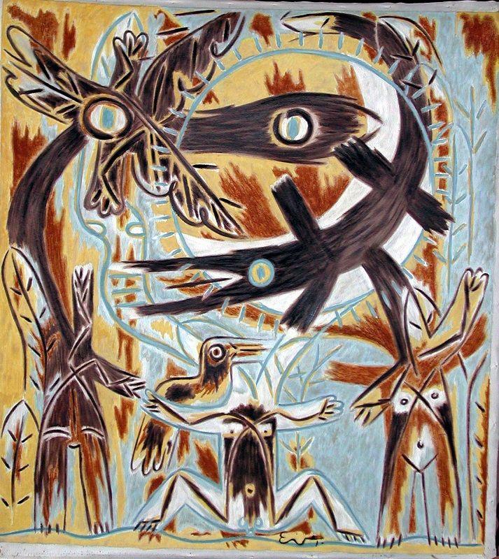 Jigüe de Noche 110 cm x 100 cm Óleo-Tela 1998 4.600€  #arte #art #cuban #EverFonseca
