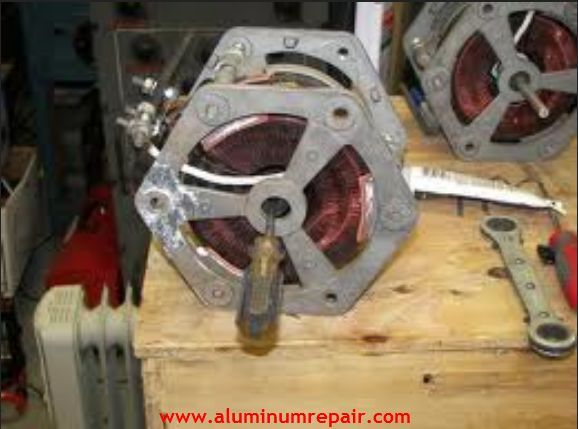 You can easily repair corroded or oil-impregnated areas that can be next to impossible to fix using welding machines with #aluminum welding rods or other brazing products. http://www.aluminumrepair.com/