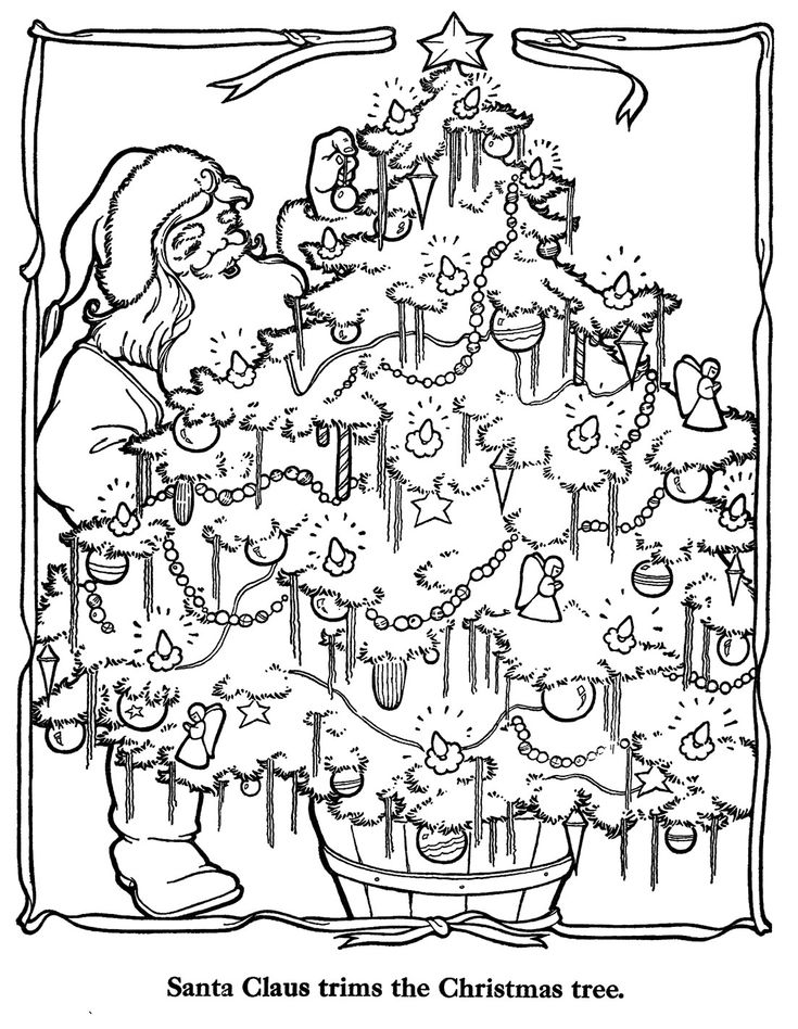 398 Best Coloring Christmas Pages Images On Pinterest Tree Countdown Coloring Page