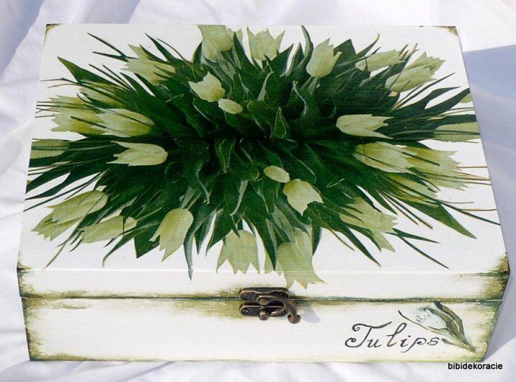 Kytica bielych tulipánov by bibidekoracie: For Handmade, Zagotovka Net Decoupage, Con Decoupage, Decoupage La, Decoupage Art