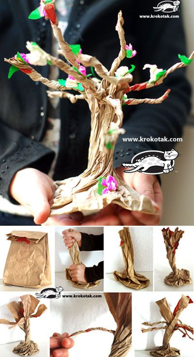 Paper Bag BLOSSOMING TREE