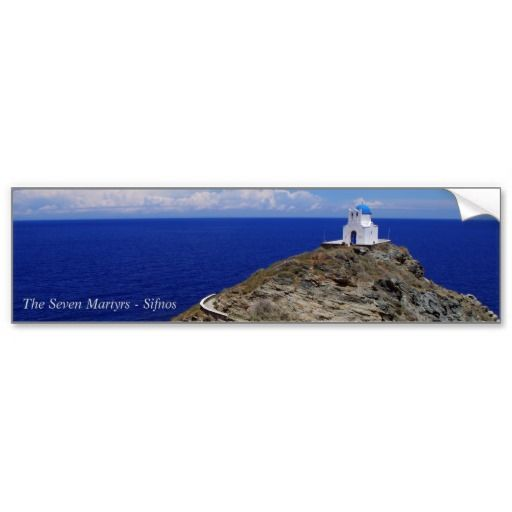 The Seven Martyrs – Sifnos Bumper Stickers