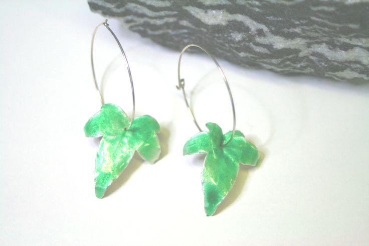 finaNina design - Murgröna örhängen emalj