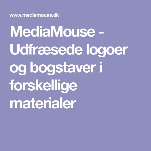 MediaMouse - Udfræsede logoer og bogstaver i forskellige materialer