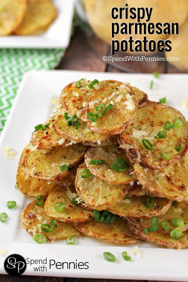 Crispy Parmesan Potatoes | Spend With Pennies