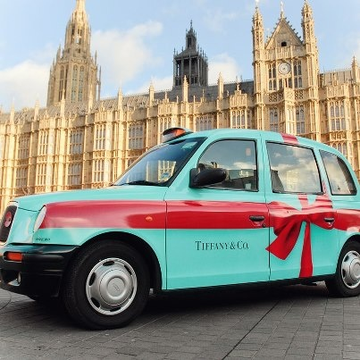 ~Tiffany wrapped 100 London Taxi Cabs    House of Beccaria#