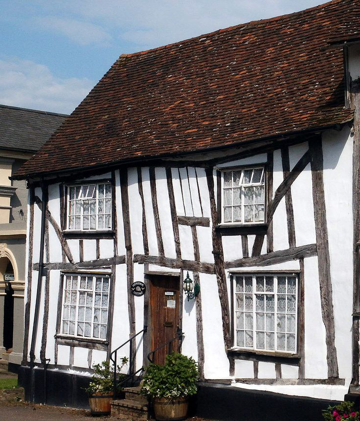 Hedgehog Cottage in Lavenham - Suffolk, England I learned to crochet in one of  these cottages...Margianne