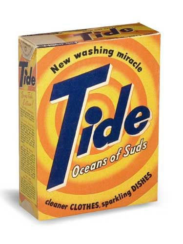 Before Tide came along, households across America washed clothing with regular, old soap. Advertisements called this powder detergent the washing miracle when it launched in 1946.