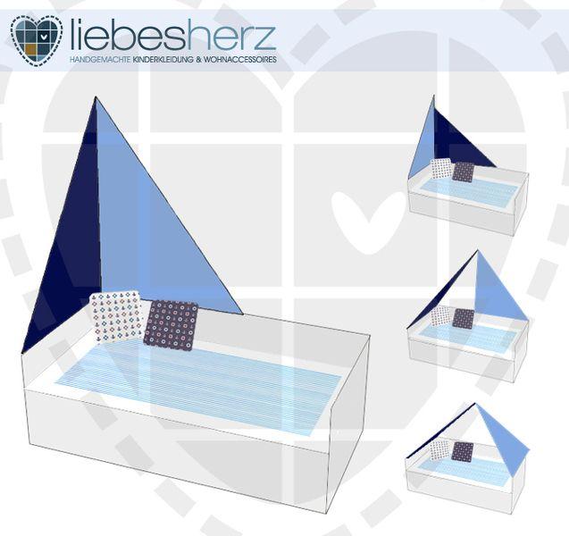 Betthimmel - Bettsegel - Segel für Kinderbetten - Pirat - ein Designerstück von dein-liebesherz bei DaWanda