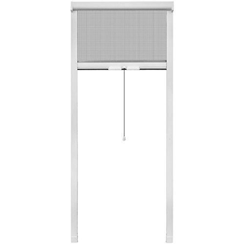 vidaXL Moustiquaire enroulable blanche pour fenêtre 60 x 150 cm: Dimensions: 80 x 170 cm (L x H) Coloris du cadre: Blanc Coloris du…